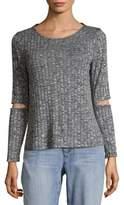 Supply & Demand Liza Ribbed Cut Sweater