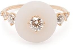 Fernando Jorge Orbit 18kt Gold, Opal & Diamond Ring - Womens - Pink