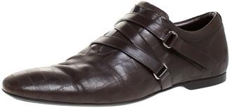 Louis Vuitton Brown Leather Damier Infini Velcro Low Top Sneaker Size 42.5