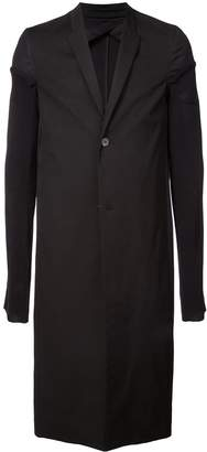 Rick Owens panelled sleeve single breasted coat