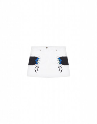 Moschino Monster Hands Skirt Woman White Size 4a It - (4y Us)