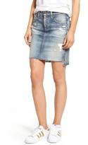 AG Jeans Women's The Erin Raw Step Hem Denim Skirt