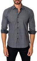 Jared Lang Trim Fit Diamond Print Sport Shirt