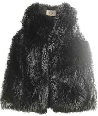 Prada Metallic Faux fur Jacket for Women