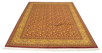 Ecarpetgallery Oriental Hand Knotted Wool Red/Yellow Area Rug