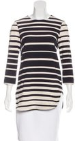 Tibi Striped Asymmetrical Tunic