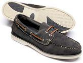 Charles Tyrwhitt Grey Fowey suede boat shoes