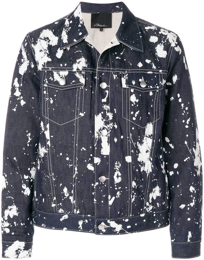 3.1 Phillip Lim paint-effect bomber jacket