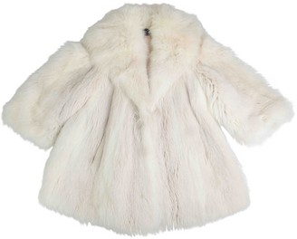 Giuliana Teso White Fox Coat for Women Vintage