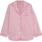 Bodas Verbier Striped Swiss Cotton Pajama Shirt