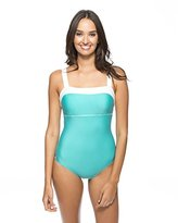 Nautica Women's Signature Classic Soft One Piece Swimsuit