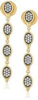 Freida Rothman Contemporary Deco Triple Drop Earrings, Size
