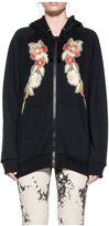 Gucci Black Embroidery Hooded Sweatshirt