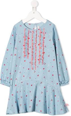 Billieblush Fruit Print Ruffled Placket Dress