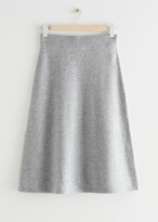 Thumbnail for your product : And other stories A-Line Wool Blend Midi Knit Skirt