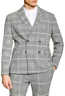 Topman Skinny Fit Check Suit Jacket