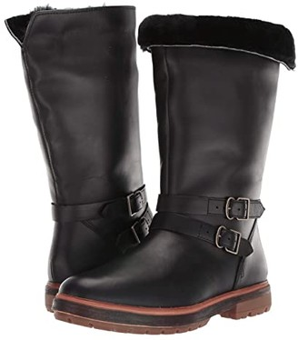 Timberland Riley Flair Mid Pull-On Boot (Black Full Grain) Women's Lace-up Boots