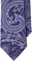 Ike Behar MEN'S PAISLEY FAILLE NECKTIE-PURPLE