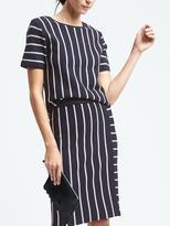 Banana Republic Stripe Short-Sleeve Keyhole Pullover