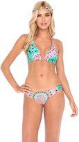 Luli Fama Women's Dream Catcher D/D Triangle Halter Bikini Top
