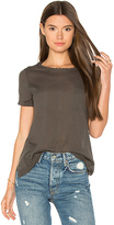 Autumn Cashmere Distressed Pocket Tee in Dark Green. - size S (also in )