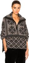 Chloé Mini Fur Stitch Jacquard Sweater