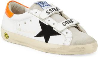 Golden Goose Boy's Old School Leather Sneakers, Toddler/Kids