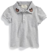 Gucci Infant Boy's Embroidered Collar Polo