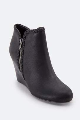 Report Gage Whipstitch Wedge Ankle Boot - Black