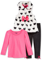 Nannette 3-Pc. Heart Vest, T-Shirt & Denim Leggings Set, Toddler Girls (2T-4T) & Little Girls (2-6X)