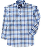 Roundtree & Yorke Travelsmart Long-Sleeve Large Plaid Sportshirt