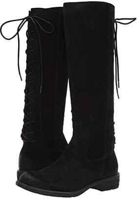 Sofft Sharnell II Waterproof (Black Waterproof Oiled Cow Suede) Women's Lace-up Boots