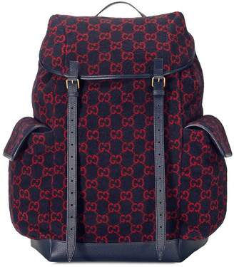 Gucci large GG pattern backpack