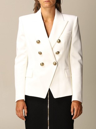 Balmain Blazer Structured Double-breasted Jacket