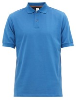 Paul Smith Beetle-button Cotton-pique Polo Shirt - Mens - Blue