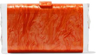 Edie Parker Lara Marbled Acrylic Box Clutch