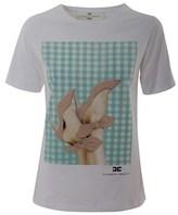 Elisabetta Franchi Women's White Cotton T-shirt.