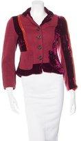 Diane von Furstenberg Wool Velvet-Trimmed Jacket