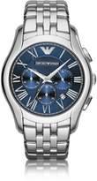 Emporio Armani New Valente Silver Tone Stainless Steel Men's Watch