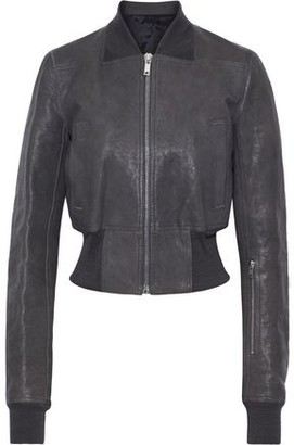 Rick Owens Textured-leather Bomber Jacket