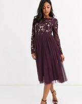 Maya embellished tulle midi dress