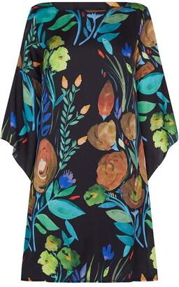 James Lakeland Floral Print Flute Sleeve Dress