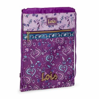 Lois Stamped Pouch Backpack. Sack with Handles Multifunctional Bag. Purse Closure. Very Comfortable and Light. Ideal for Sport