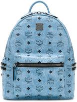 MCM logo print embellished backpack - women - Leather - One Size