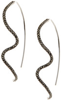 Judith Jack Sterling Silver Marcasite Pull-Through Earrings