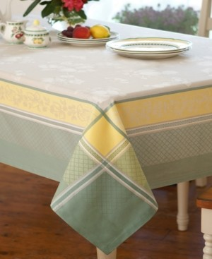 "Villeroy & Boch Fleurence Jacquard 63"" x 63"" Square Tablecloth"