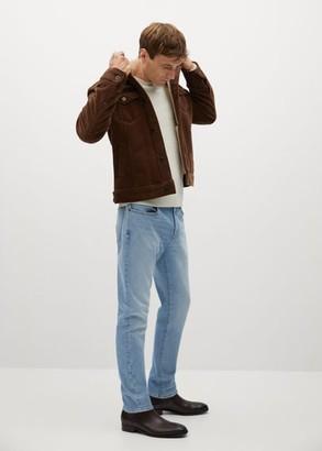 MANGO Faux shearling-lined corduroy jacket