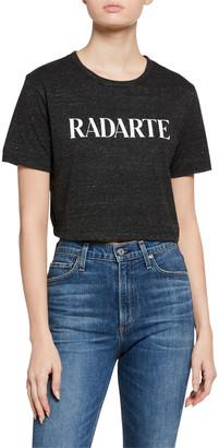 Rodarte Classic Radarte Los Angeles Graphic Cropped Tee