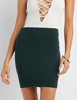 Charlotte Russe Solid Bodycon Mini Skirt