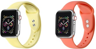 Posh Tech Yellow/Living Coral Apple Watch Replacement Band - Set of 2